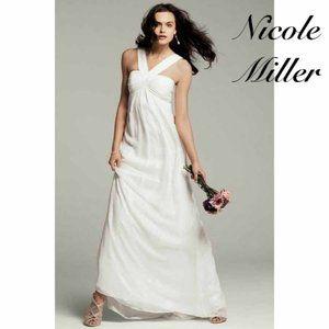 🆕 Nicole Miller White Wedding Gown Dress